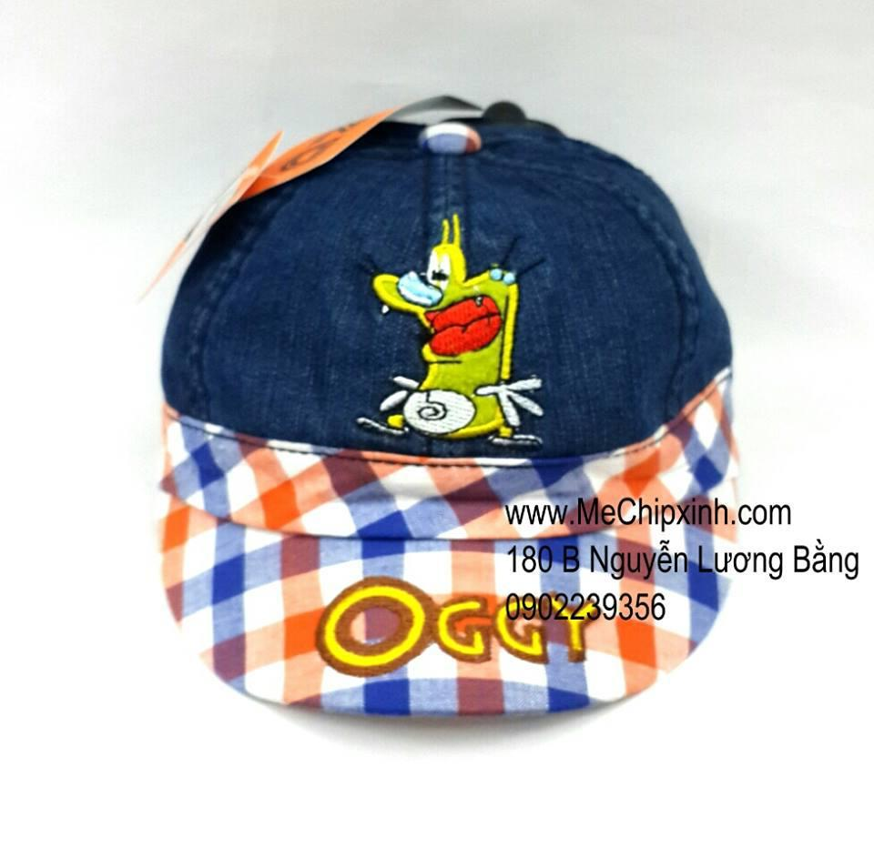 Mũ lưỡi trai Oggy kẻ xanh