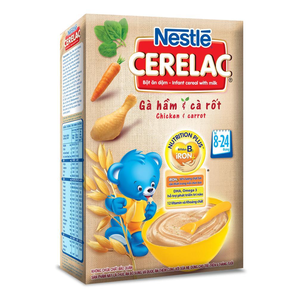 Bột ăn dặm gà hầm cà rốt Nestle 200g