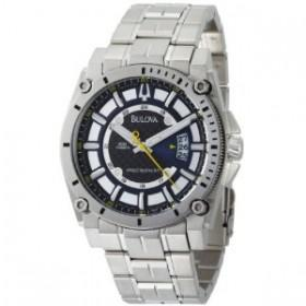 Bulova Men's 96B131 Precisionist Champlain Blue Dial Steel Bracelet Watch