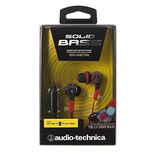 Tai nghe có mic Audio-technica Solid bass  ATH-CKS770iS (Đỏ)
