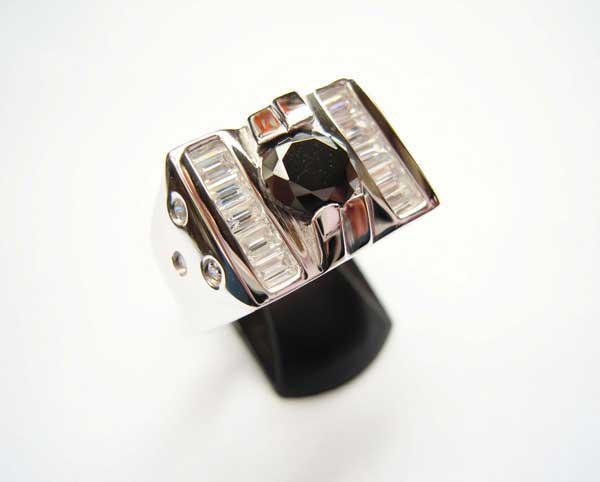 Nhẫn bạc nam đá đen