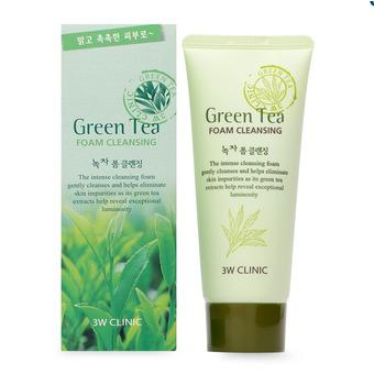 Sữa rửa mặt trà xanh 3W Clinic Green Tea Foam Cleansing 100ml