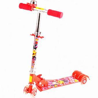 Xe đạp trượt scooter 3 bánh phát sáng và có chuông cho bé