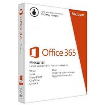 Phần mềm Microsoft Office 365 Personal 32-bit/x64 English Subscr 1YR APAC EM Medialess