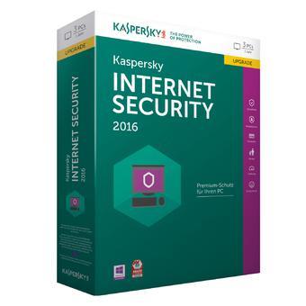 Phần mềm diệt virus Kaspersky Internet Security 2016 (Xanh)