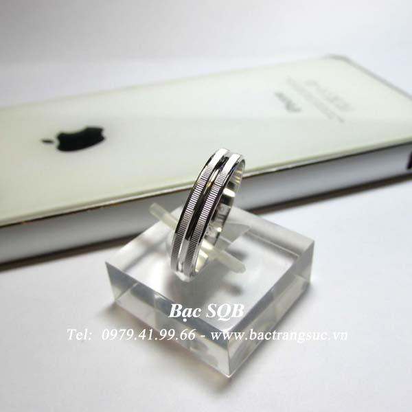 Nhẫn bạc nam vạch trắng