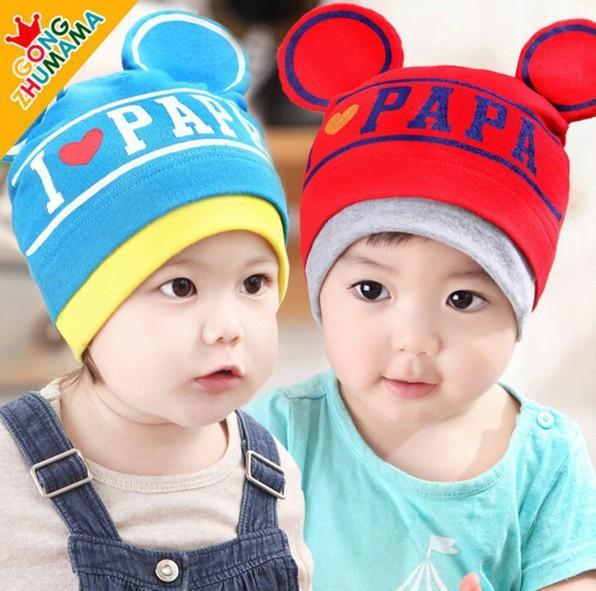 Mũ cotton thu đông cho bé nhiều mầu