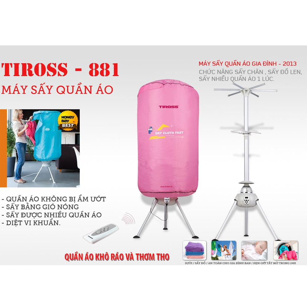 Máy sấy quần áo Tiross TS881