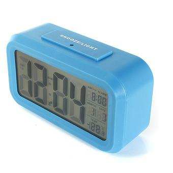 Đồng hồ báo thức kỹ thuật số với đèn LED nền cảm biến đa chức năng: thời gian, lịch, báo thức, nhiệt...
