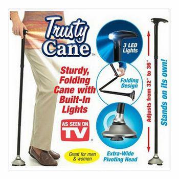 Gậy trusty cane có thể gập lại với 3 dẫn