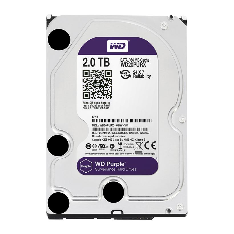 Ổ cứng HDD WD Purple WD20PURX 2TB