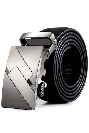 Men Leather Automatic Buckle Belts Fashion Waist Strap Belt Waistband (Intl)