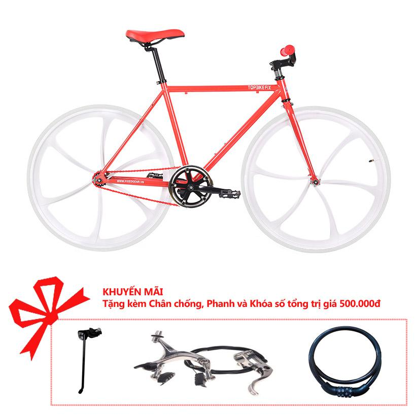 Xe đạp Topbike Fix Lazang khung màu đỏ