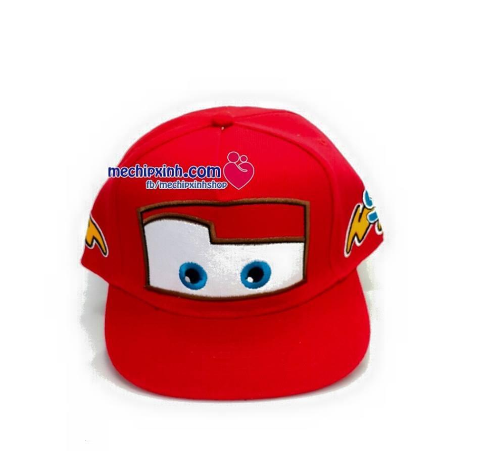 3-7 tuổi Mũ Hip Hop hình ô tô Mc Queen
