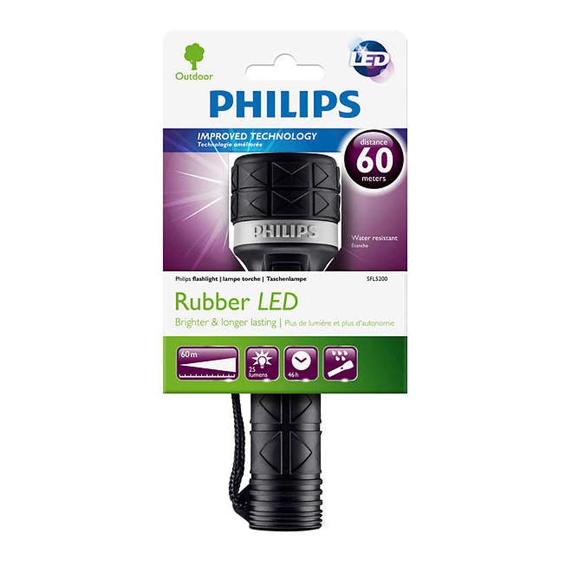 Đèn pin LED Philips SFL5200 (Đen)