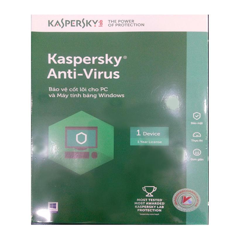 Phần mềm diệt virus Kaspersky Anti Virus 1PC