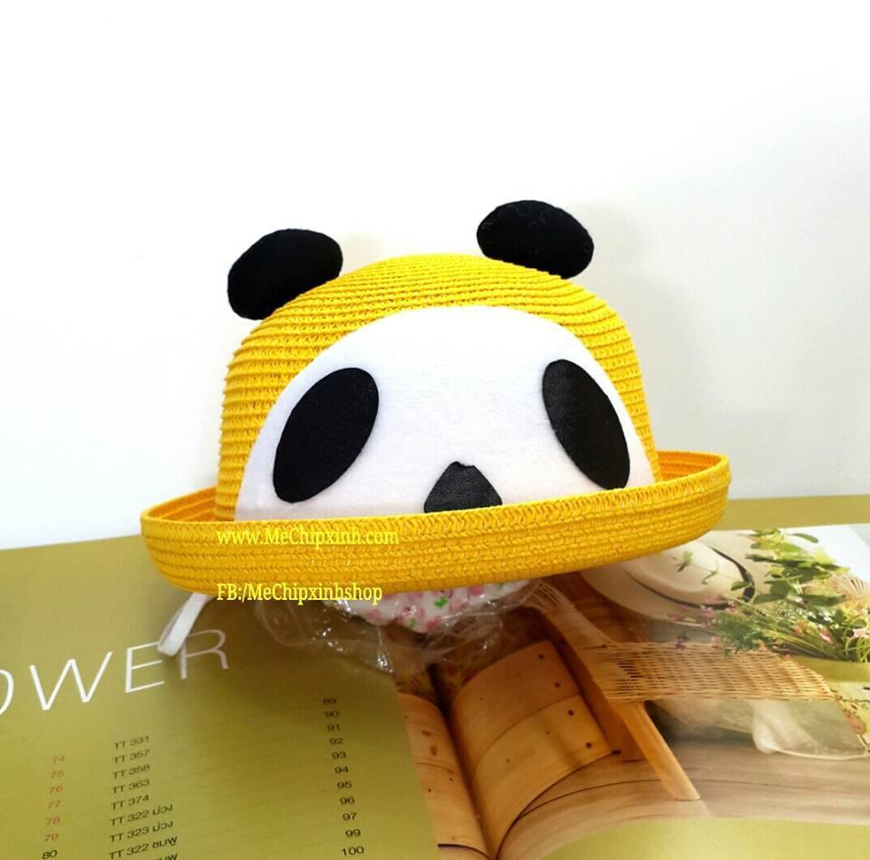 Mũ cói hình gấu cho bé yêu