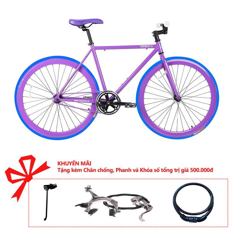 Xe đạp Topbike Fix khung màu tím