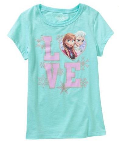 Disney Frozen Love Girls´ Short Sleeve Graphic Tee 10/12
