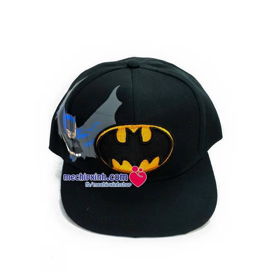 3-7 tuổi Mũ Hip Hop hình người dơi Bat man