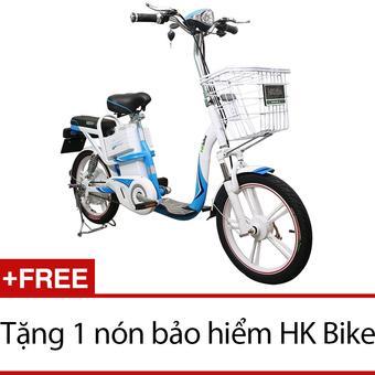 Xe đạp điện HK Bike ZINGER COLOR (Trắng) + Tặng 1 nón bảo hiểm HK Bike