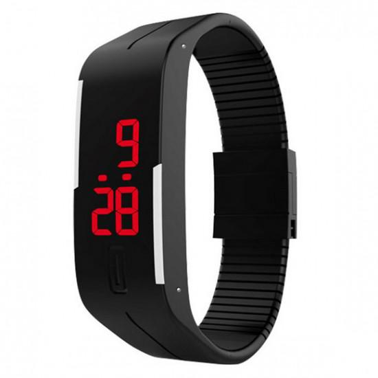 Đồng hồ LED silicon kiêm vòng tay thời trang - DH-LED
