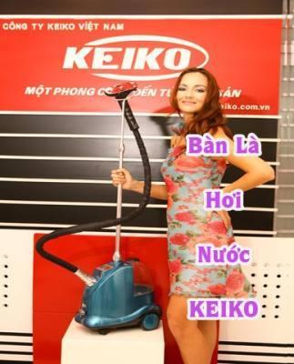 Bàn là hơi nước cây đứng Keiko IR1001-01(Màu xanh)