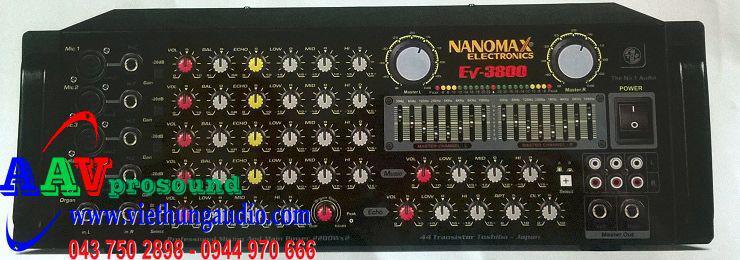 Amply Nanomax EV-3800 | Amply công suất lớn chất lượng cao tại Hà Nội