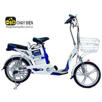 Xe đạp điện Bmx Star (Trắng xanh)