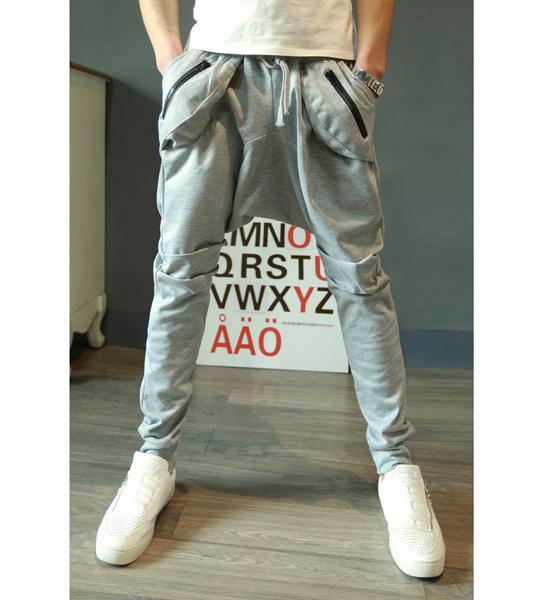 quần dài đáy thụng túi dây kéo