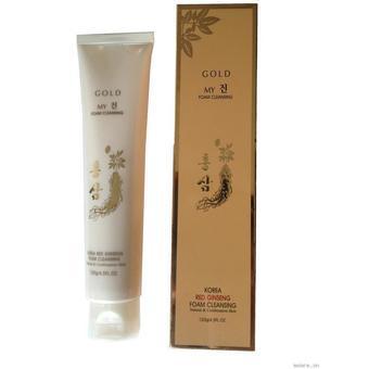 Sữa rửa mặt sâm vàng My Gold Korea Red Gíneng Foam Cleansing 120g