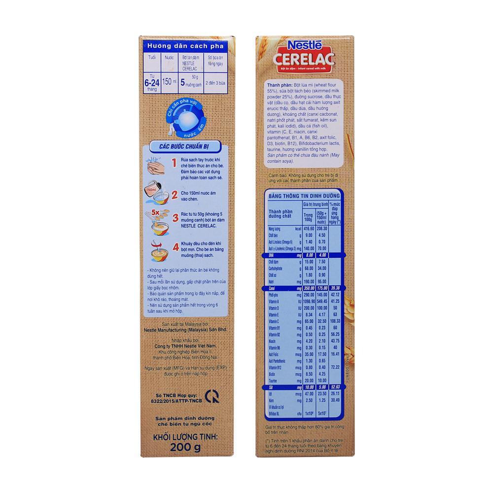 Bột ăn dặm lúa mì sữa Nestle 200g