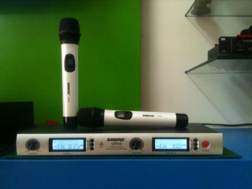 Microphone Shure UR4S, Micrphone chuyên dùng cho hát karaoke,microphone biểu diễn,microphone châ...