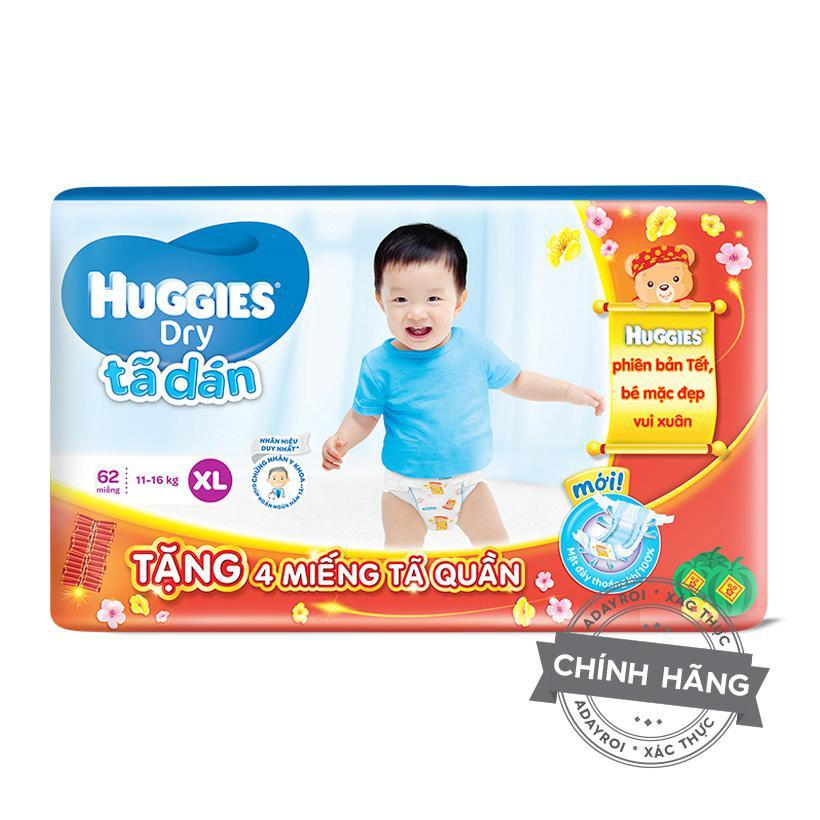 Tã - bỉm dán Huggies XL62