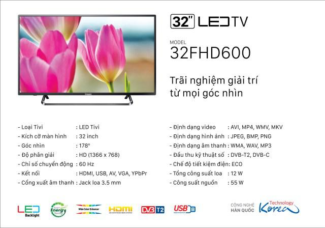 TIVI LED IMUSIC 32FHD600AT 32'' INCH SMART TV
