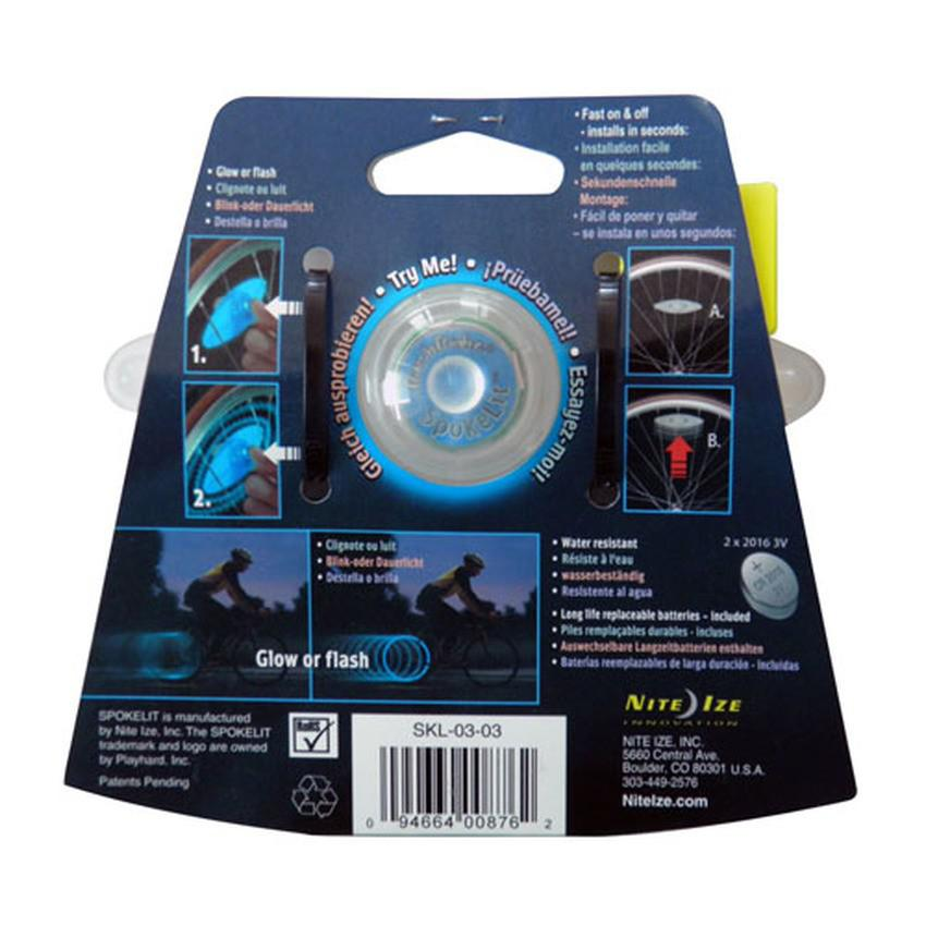 Đèn gắn bánh xe Nite Ize Ubesthouse SPOKELITB305 (Xanh dương)