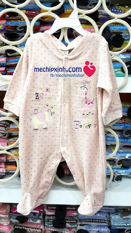 Body băng lông cho bé từ sơ sinh - 3-6-9-12 tháng thu đông ấm áp