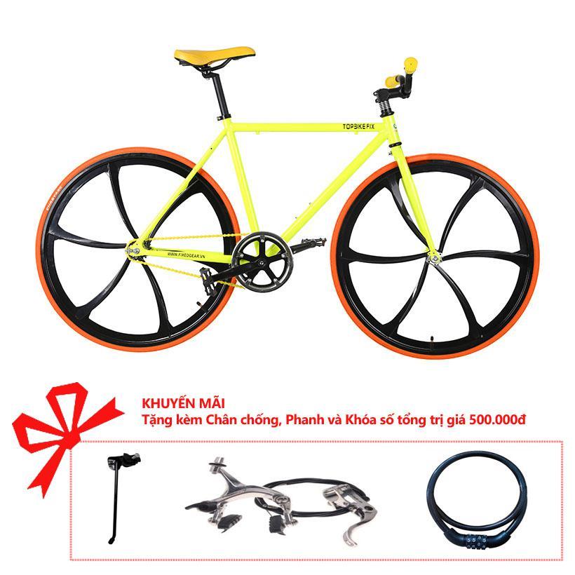 Xe đạp Topbike Fix Lazang khung màu vàng