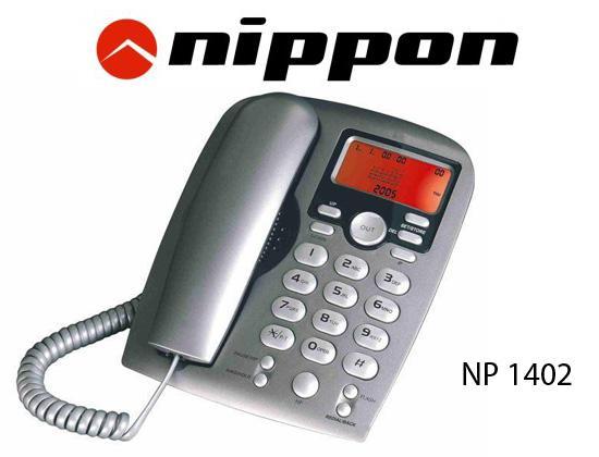 Điện thoại bàn Nippon NP1402 (Xám)