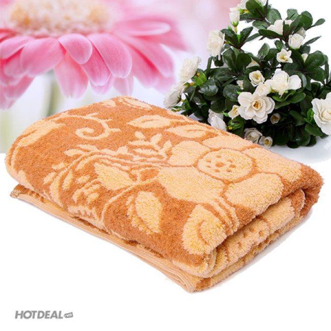 Khăn Tắm KiBa Hoa Văn Xuất Khẩu KiBa 50x100cm (100% cotton)