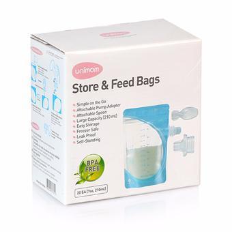 Túi trữ sữa mẹ và thức ăn cho bé ăn trực tiếp bằng thìa Unimom - UM870329 Sx tại Hàn Quốc (50 túi/hộ...