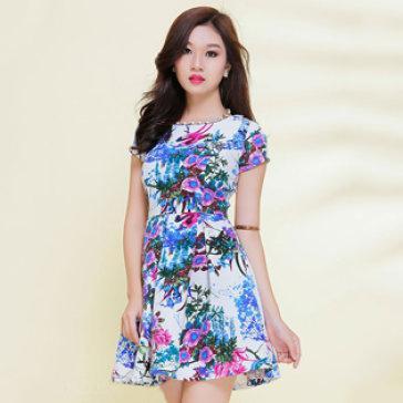 Đầm Xòe Họa Tiết Hoa