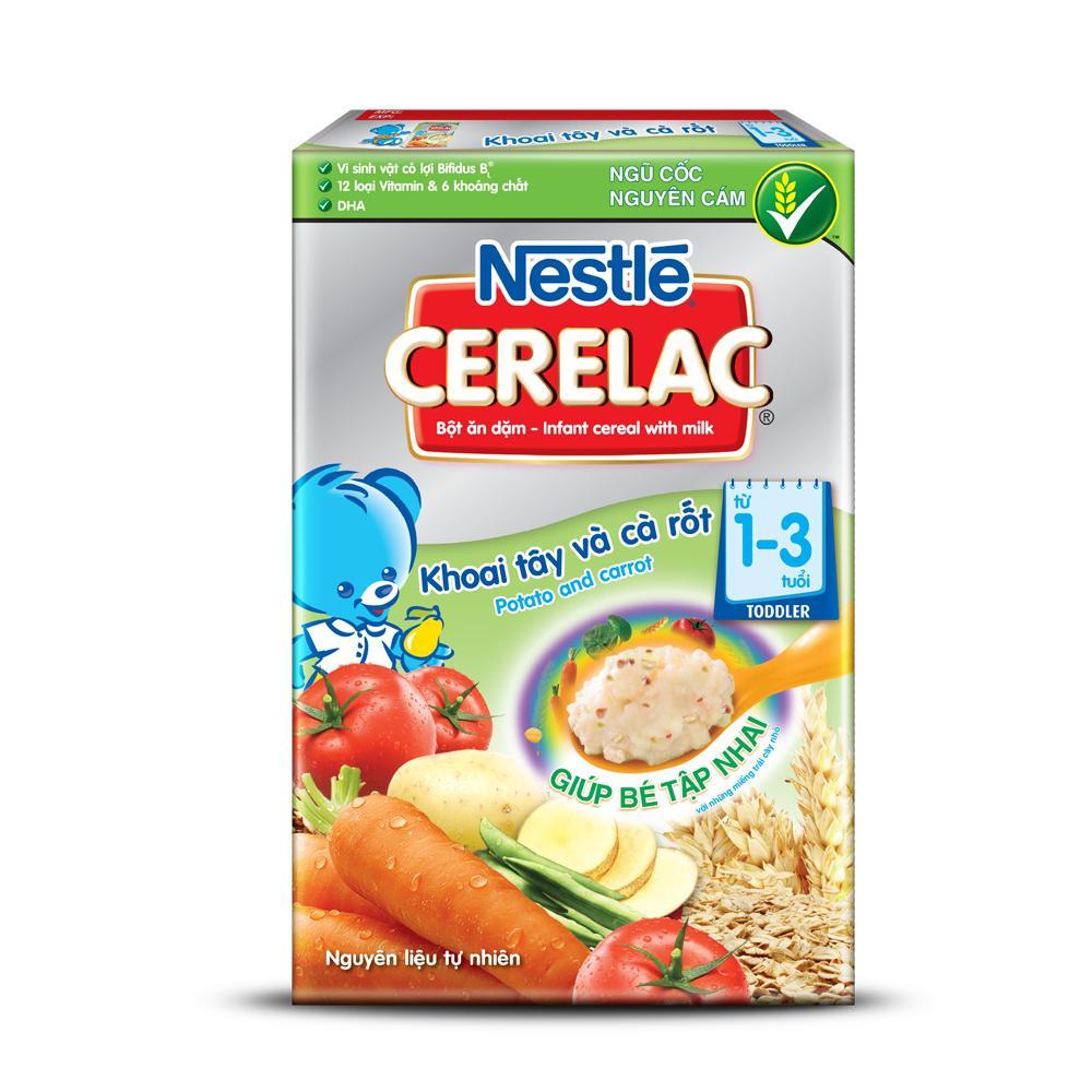 Bột ăn dặm khoai tây và cà rốt Nestle 200g