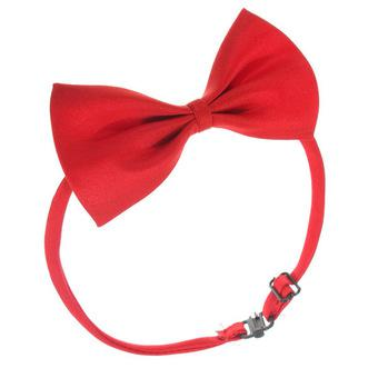 New Fashion Cute Dog Cat Pet Puppy Toy Kid Cute Bow Tie Necktie Collar Clothes A Purplish Red (Intl)