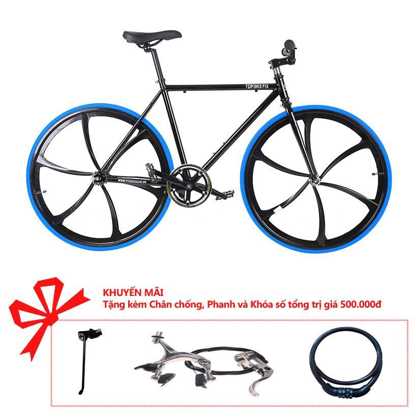 Xe đạp Topbike Fix Lazang khung màu đen