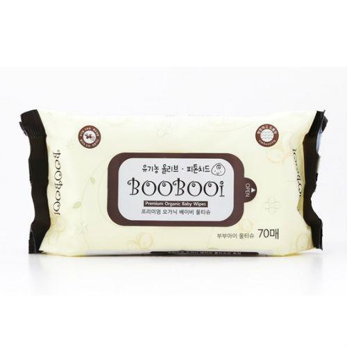 Giấy ướt hữu cơ BooBooi Hàn Quốc, 70 tờ