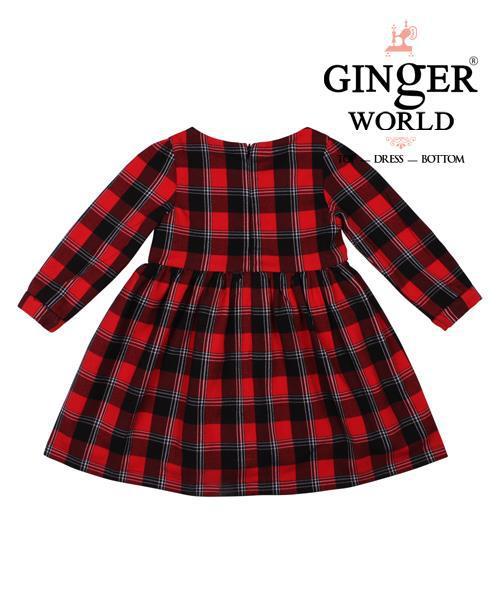 Đầm tinh nghịch sọc carô cho bé CD82_GINgER WORLD