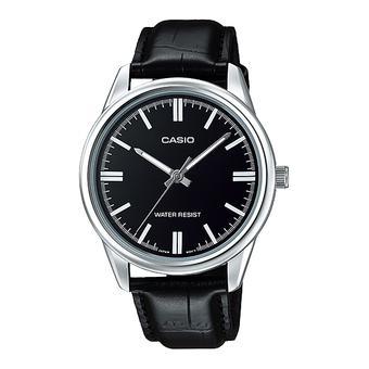 Đồng hồ Nam dây da Casio MTP-V005L-1A (Đen)