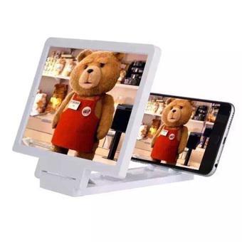 Kính 3D phóng đại hình ảnh cho điện thoại Enlarged Screen (Trắng)