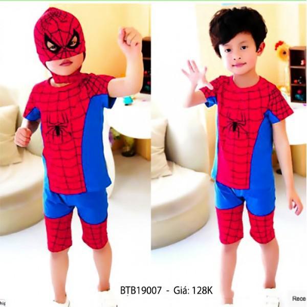 Bộ lửng người nhện kèm mặt nạ dễ thương cho bé trai 3 - 10 Tuổi BTB13902